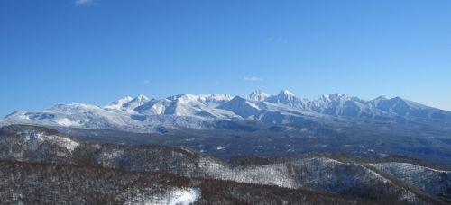 八子ガ峰から見た八ヶ岳連峰 2010.1.16