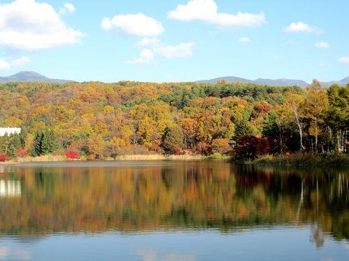 蓼科湖の紅葉 2009年10月28日