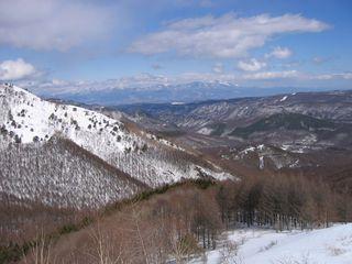 車山高原から見た浅間山 08.3.6