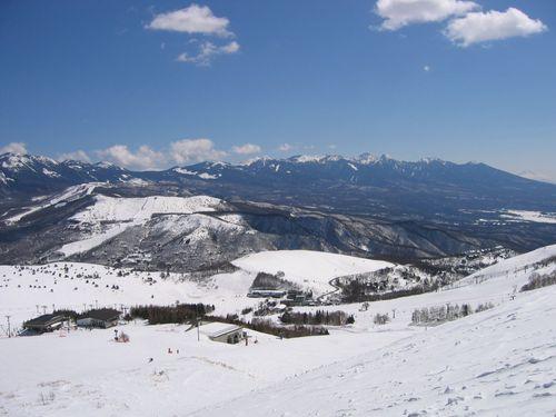 車山スキー場と八ヶ岳連峰 08.3.6
