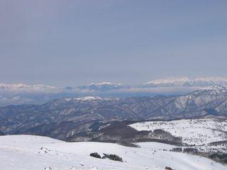 美ヶ原高原と北アルプス/車山山頂より